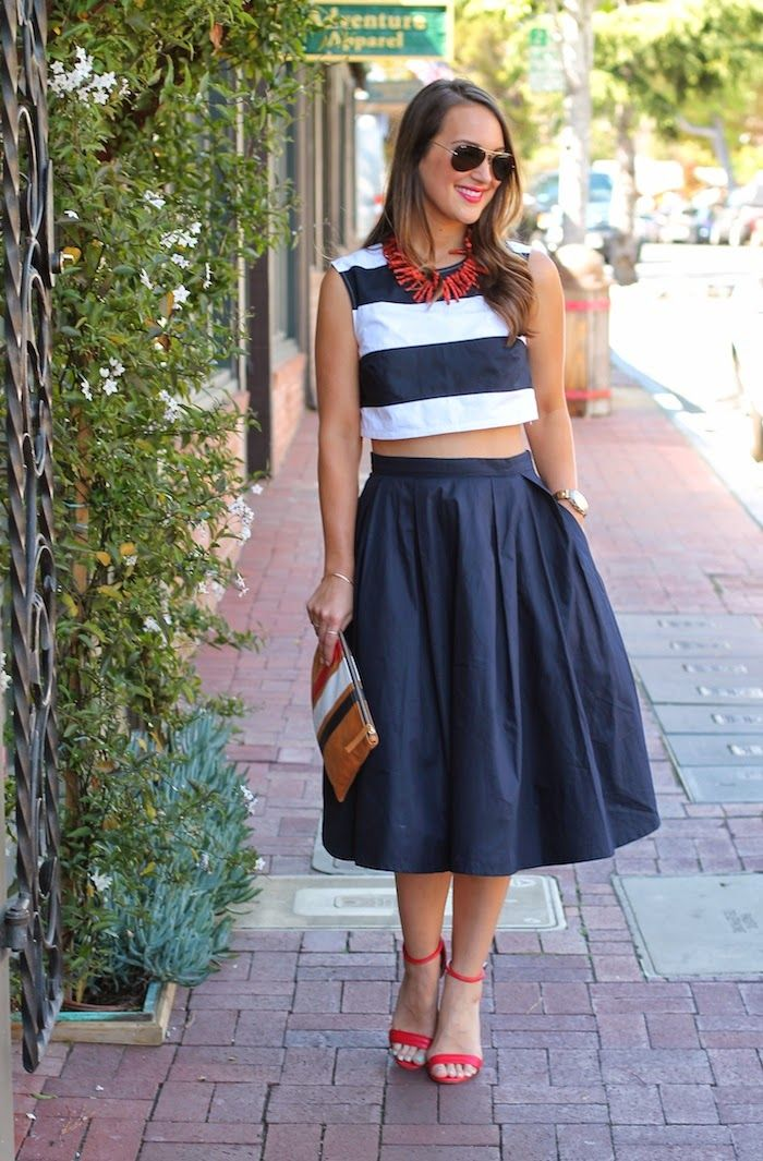 Nautical Crop Top by Carrie Bradshaw Lied