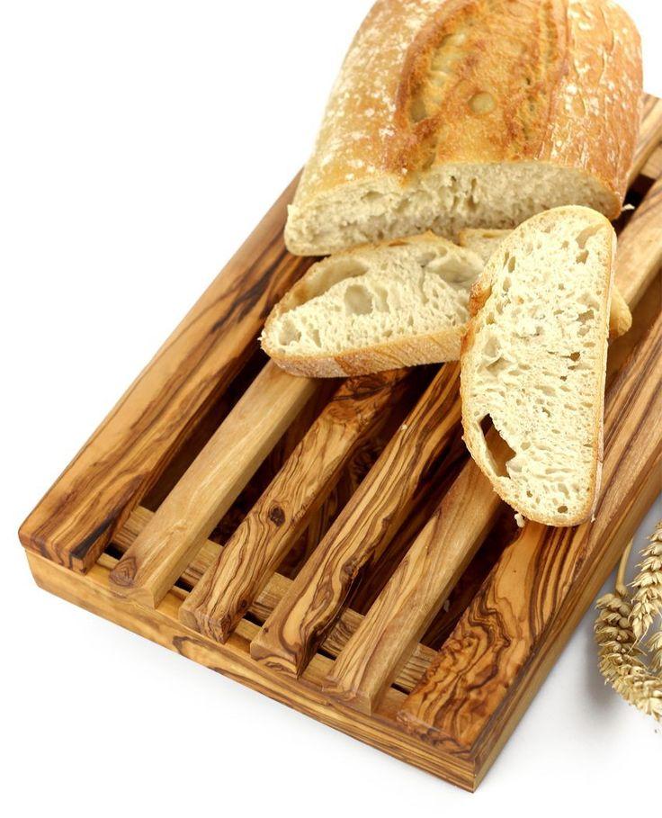 Brotschneidebrett aus Olivenholz 19 x 32 cm   treevoli