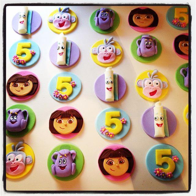 Best  Dora Cupcakes Ideas On Pinterest Dora Birthday Cake - Dora birthday cake toppers