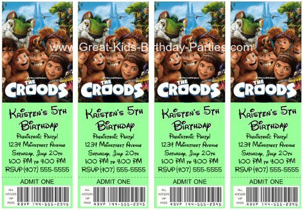 The Croods Birthday Invitations   Birthday invitations ...