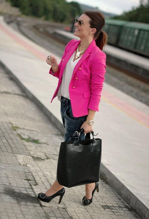 Zara  Blazers, Fornarina  Jeans and Zara  Bags