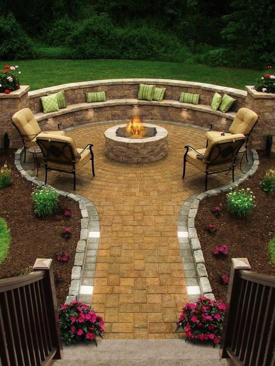 Amazing backyard firepit
