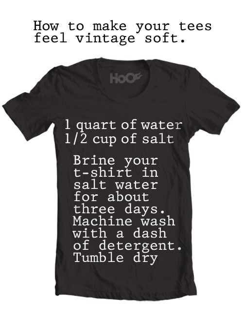 I will totally do this- I hate buying new tees cos they're never as soft as my old ones... (or my hubby's old ones :D)
