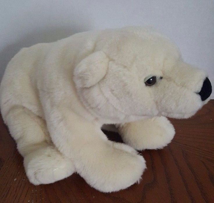 Webkinz Signature Endangered  Polar Bear No Code White Plush Stuffed Collector #Webkinz