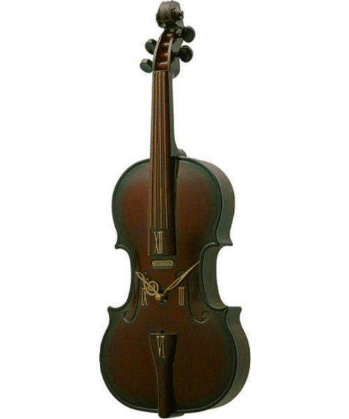 Rhythm Clocks Fiddler Musical Clock Cherry 4MHA03WD06