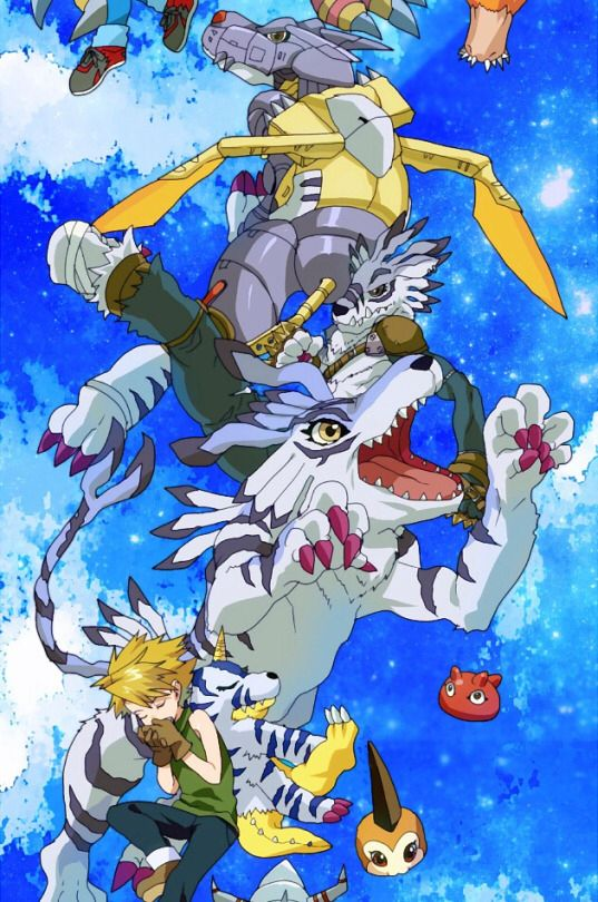 Digimon Adventure: Yamato (Matt) with Gabumon's Evolutions