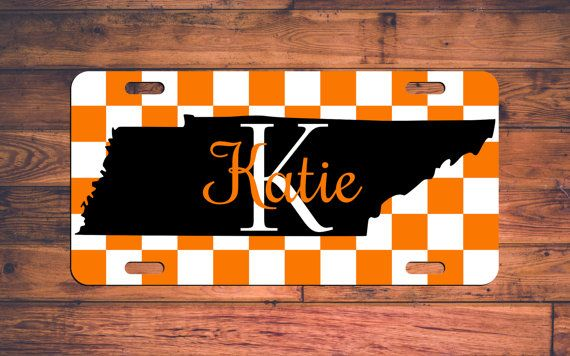 Tennessee Monogram License Plate TN VOLS Car by TheMonogramStand #tennessee…