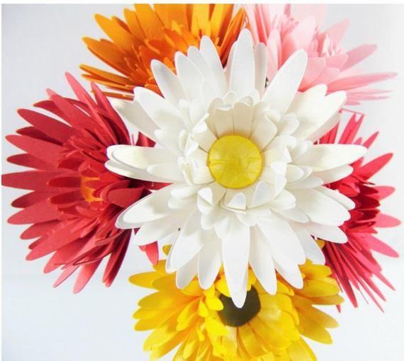 Paper Flowers- Daisy Flower Templates- SVG Flower Cut files