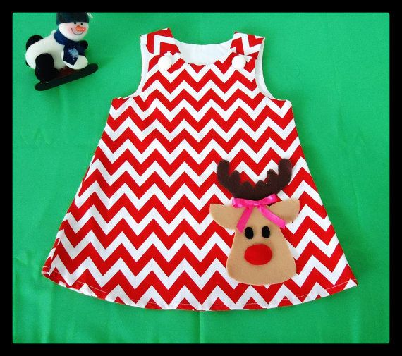 Chevron Dress - Baby Girl Dress - Toddler Dress - Baby Dress - Christmas dress-Christmas Outfit on Etsy, $24.00