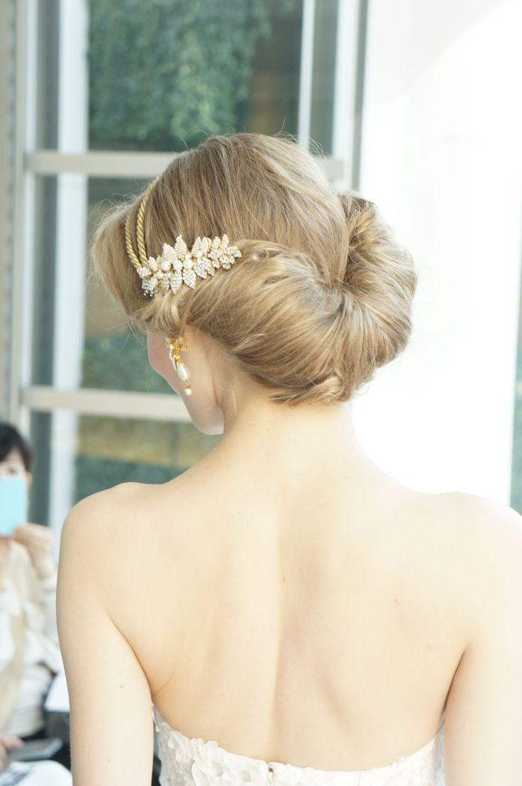 #press show #Angle Sanchez #N10005X #wedding #weddingdress #Aline #flower #NOVARESE #プレスショー #アンヘル・サンチェス #ウエディング #ウエディングドレス #Aライン #フラワー #ノバレーゼ  #hair #ヘアー #バックスタイル