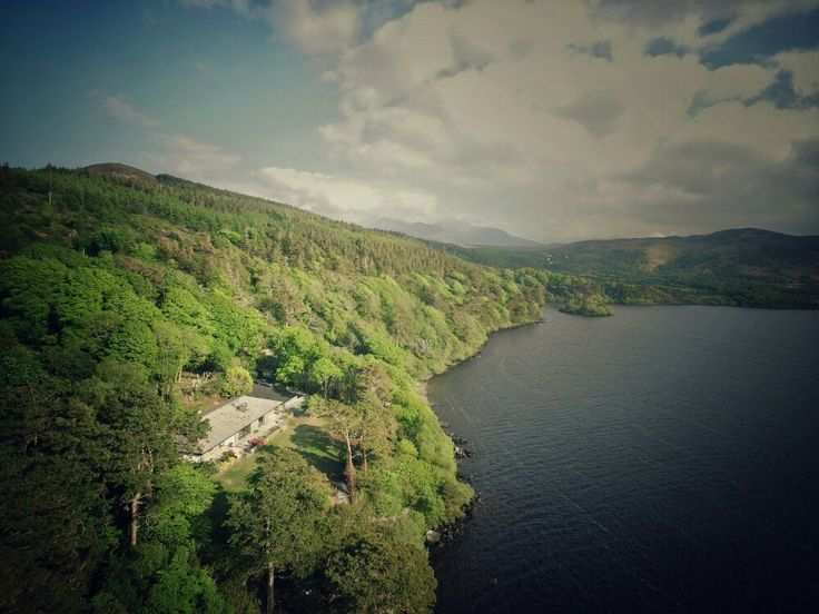 View of Caragh Lake House from the sky