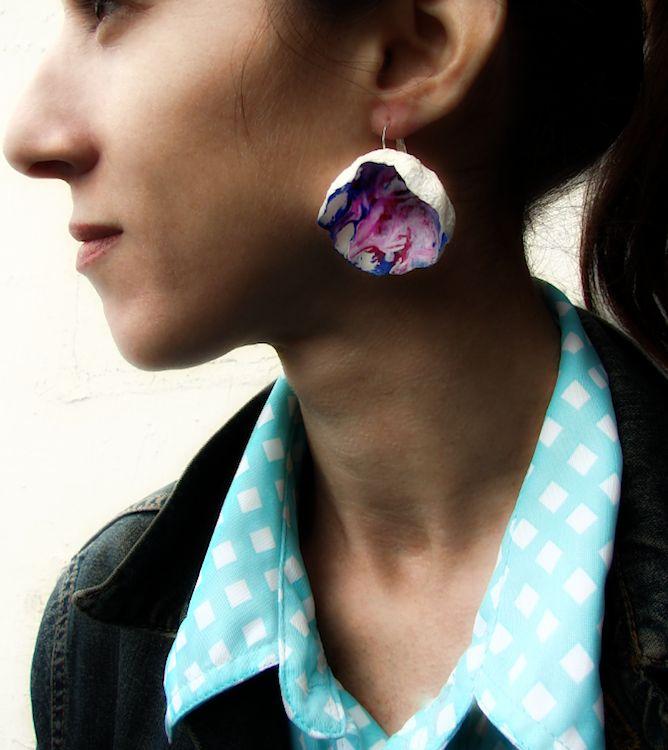 orecchini-di carta-gioielli-watercolor-dipinti-paper-earrings-statement-boho-handmade-corsi-diy