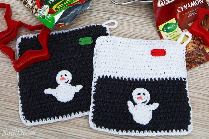 Komplet świątecznych łapek kuchennych. w SoftDecor na DaWanda.com