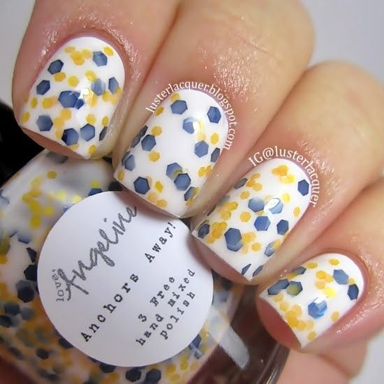 Anchors Away! - by Love, Angeline Photo Credit: http://lusterlacquer.blogspot.com #nailpolish #indiepolish #loveangeline #glitter #glitterpolish