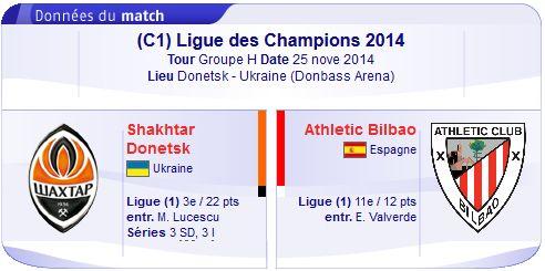 UEFA Champions league : Regarder Shakhtar Donetsk vs Athletic Bilbao en direct streaming sur bein sport le 25-11-2014 : http://beinsporthd-direct.blogspot.com/2014/11/regarder-shakhtar-donetsk-vs-athletic.html