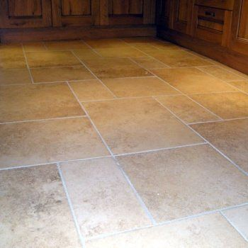 Faux Travertine Porcelain Use Epoxy Grout To Keep Lines From Turning Black Kitchen Flooring In 2018 Tiles Tile Floor
