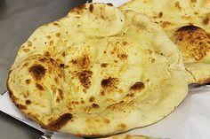 British Indian restaurant style peshwari naan