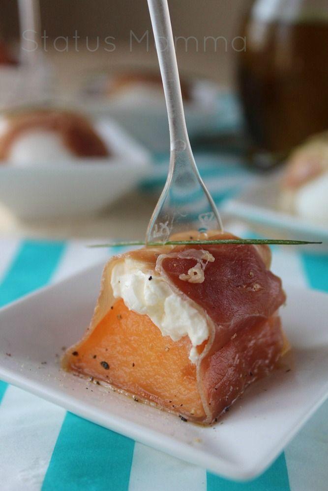 Saltimbocca freddi di melone e mozzarella al prosciutto crudo