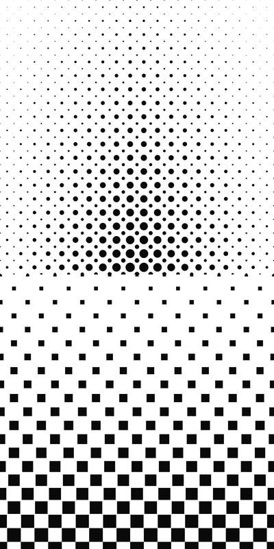 100 monochrome pattern designs - vector background set