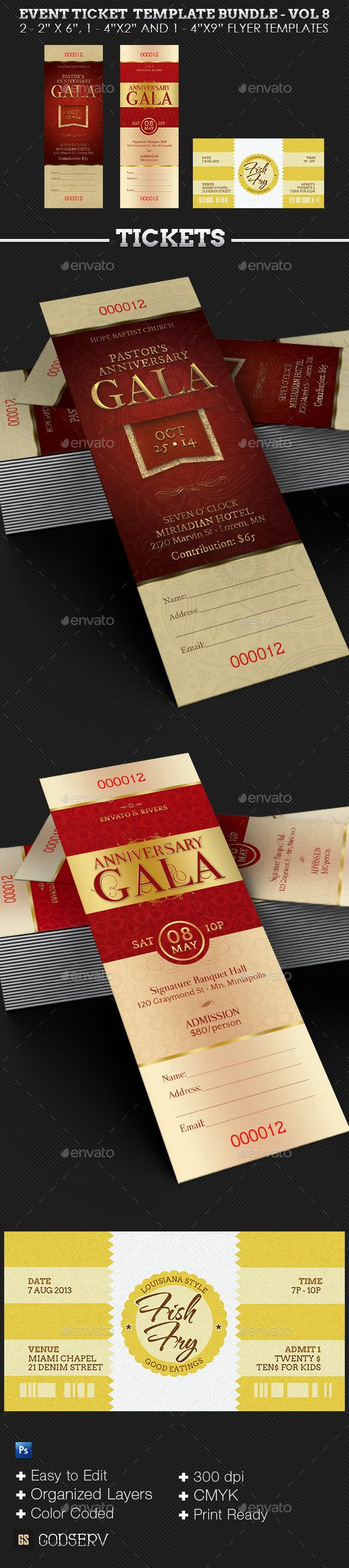 best images about best photoshop template bundles event ticket template bundle volume 8 is geared for the pastor anniversary galas church