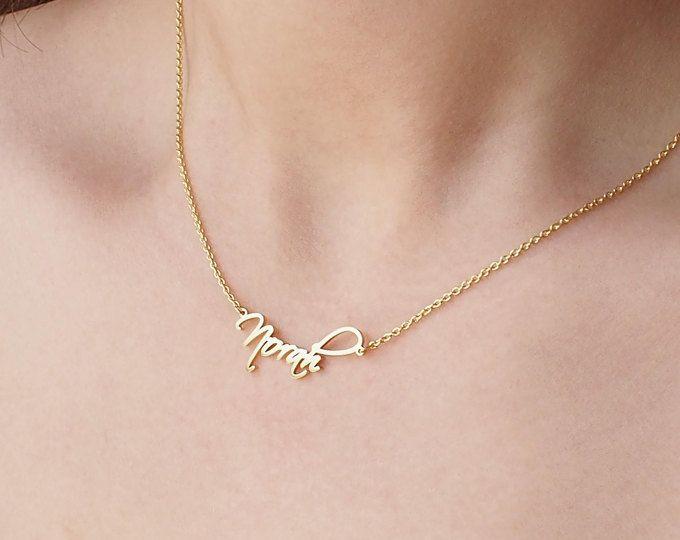 Custom Name Necklace - Personalized Name Necklace - Minimal