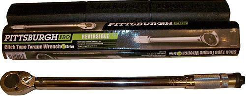 6. Pittsburgh Pro 239 Professional Drive Click Stop Torque Wrench