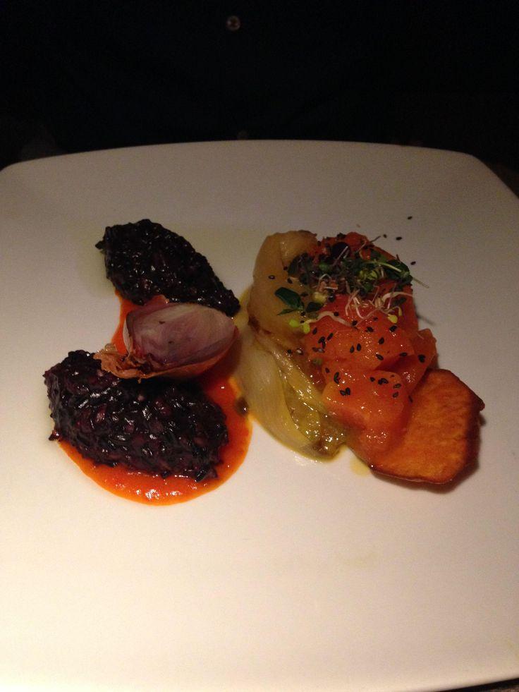 Schwarzer Reis mit Süßkartoffeln im Restaurant FISCHER in Inning am Ammersee. Lust Restaurants zu testen und Bewirtungskosten zurück erstatten lassen? https://www.testando.de/so-funktionierts