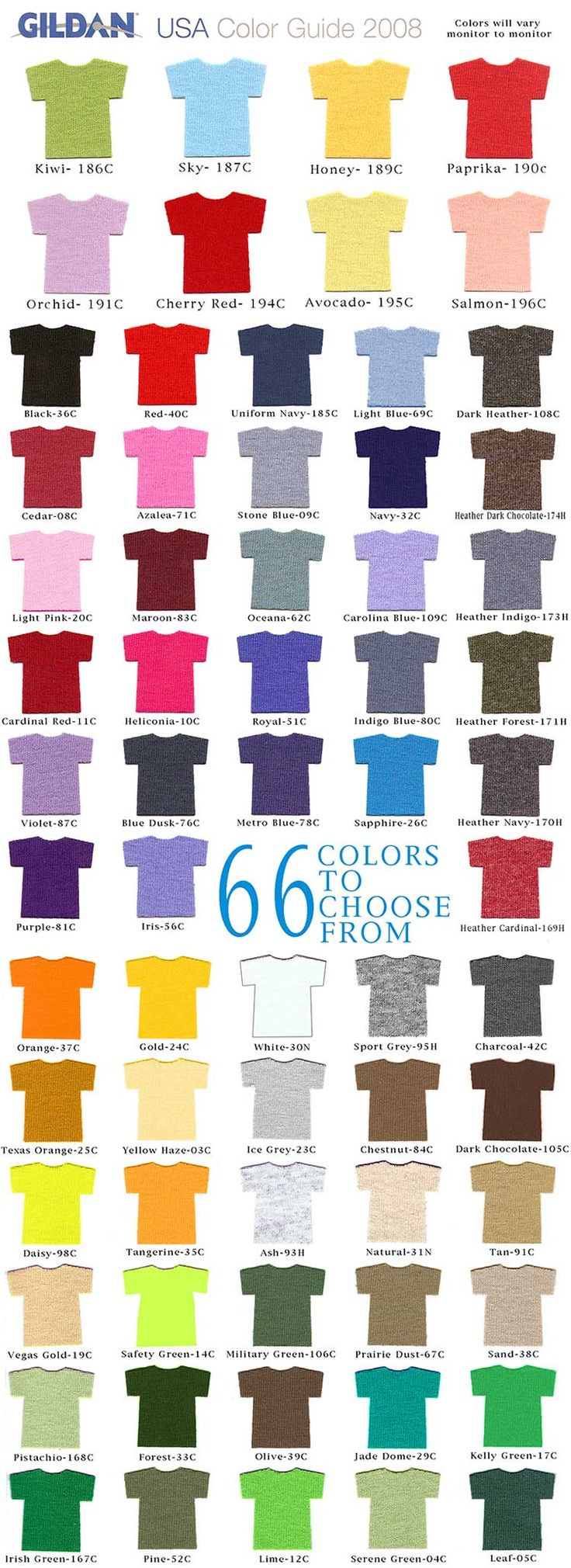 T Shirt Colors Gildan Colorful Shirts Shirts Gildan