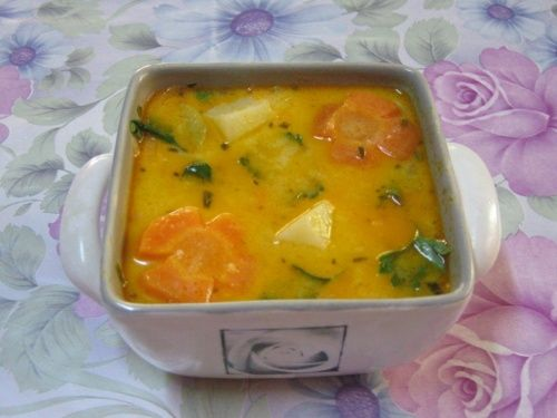 Vegetables borsch recipe