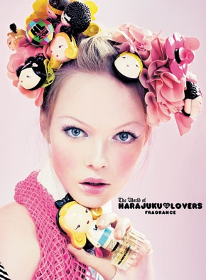 Advertisement for Harajuku Lovers fragrance by Gwen Stefani