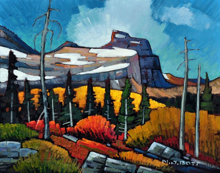 Nicholas Bott OIL The President Mountain (Yoho Pass)