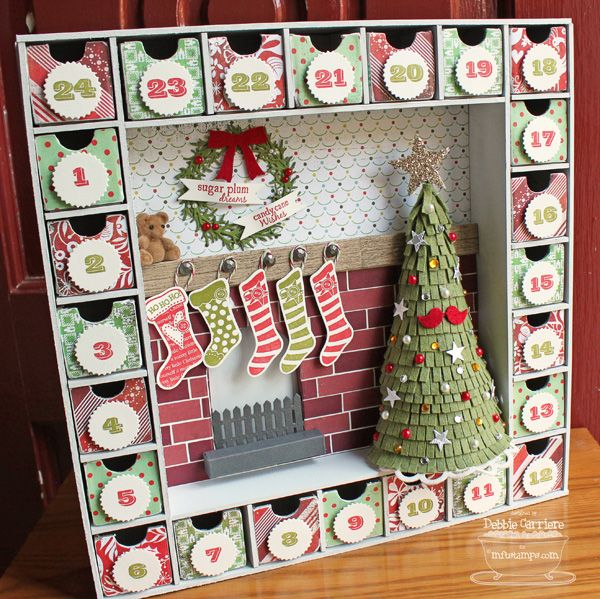 Christmas countdown by mom2n2 cards and paper crafts at for Handmade christmas countdown calendar