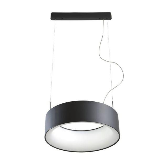 BOND Redo - závesné LED svetlo - čierny kov - ø 550mm