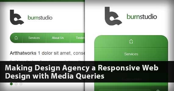 Media Queries Tutorial   Convert Burnstudio into a Responsive Website Photo