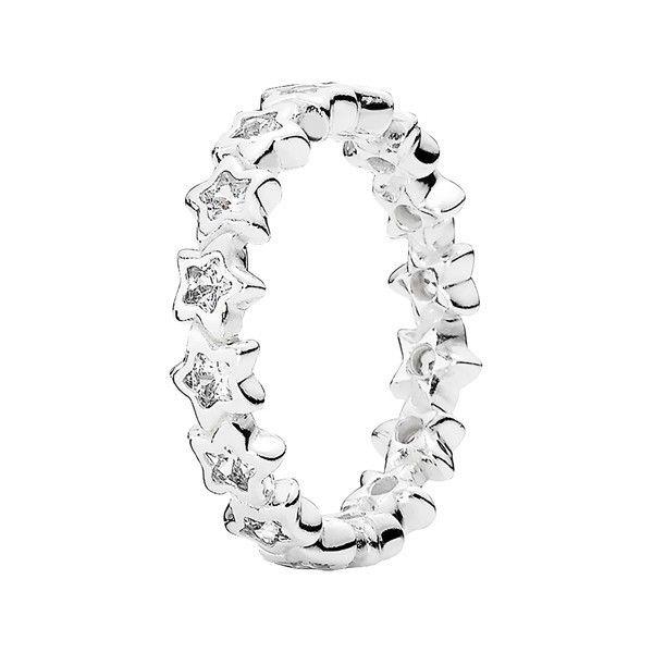 PANDORA 'Starshine' Ring ($80) ❤ liked on Polyvore featuring jewelry, rings, star ring, pandora rings, star jewelry, pandora jewelry and pandora jewellery