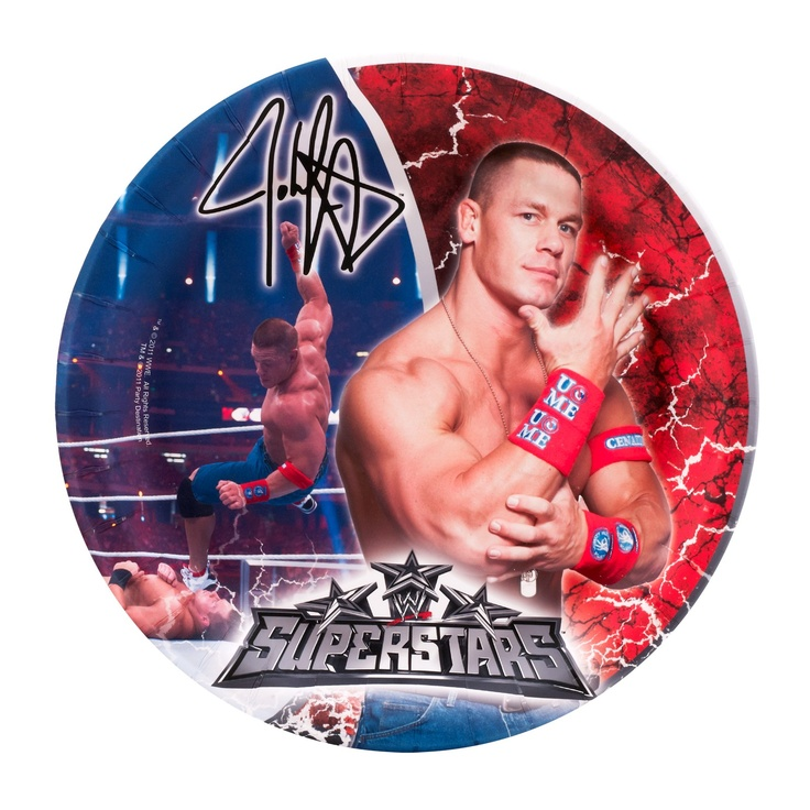 Wwe party dinner plates 8