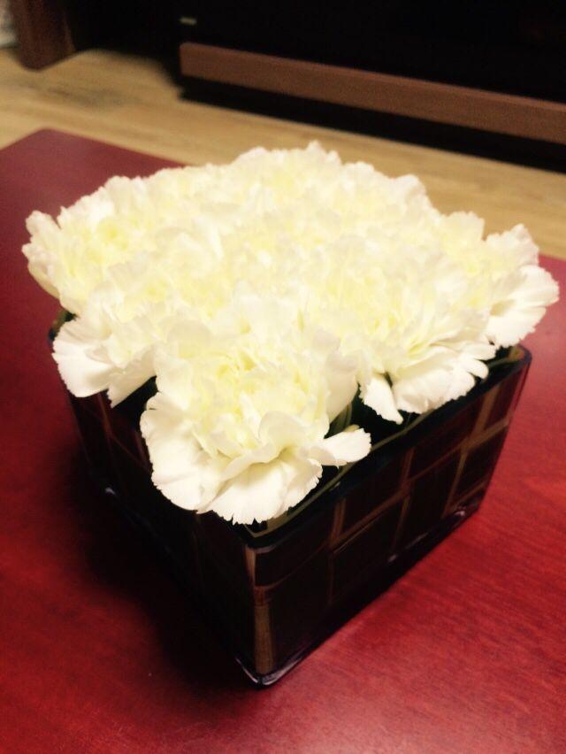 White square Flower