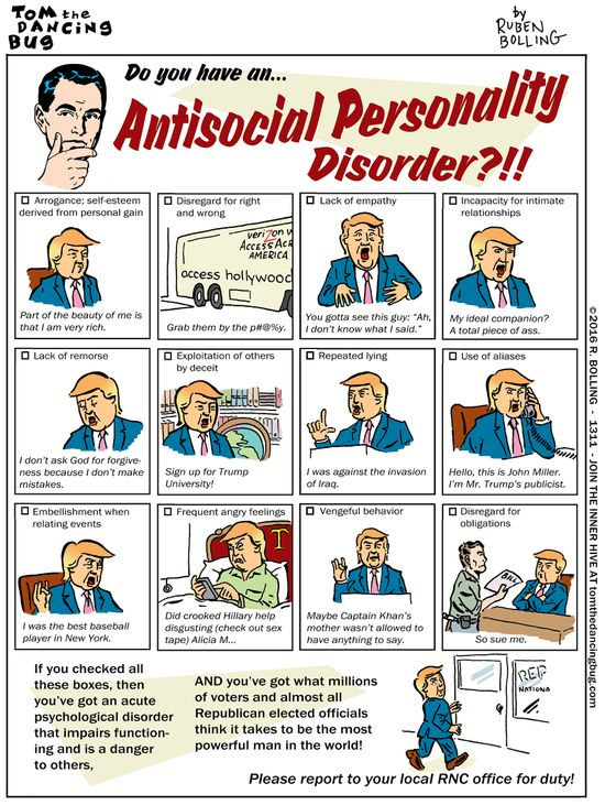 Cartoon: Do you have an Antisocial Personality Disorder?