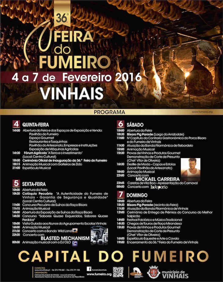 Programa 36ª Feira do Fumeiro de Vinhais 2016