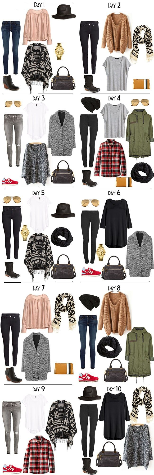 10 Days in New Zealand packing list