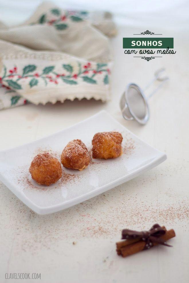 Clavel's Cook: Sonhos recheados com ovos moles da Avó Lurdes
