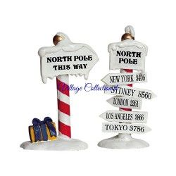 LEMAX NORTH POLE SIGNS, SET OF 2