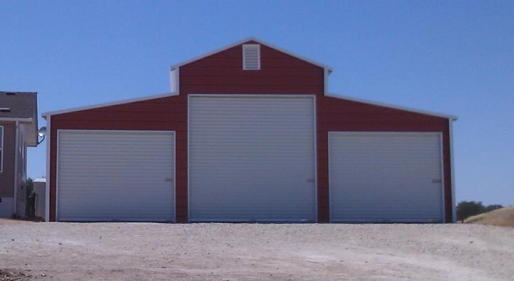 American Steel Carports, three bay garage or agricultural building, contact Mel Jenkins Building Materials, Inc., 417-770-3765 for pricing information
