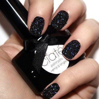 ciate sparkly black nail polish