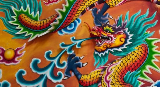 17 best ideas about korean dragon on pinterest japanese for Chinese dragon mural