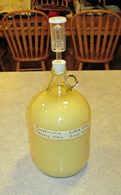 how to make pumpkin wine. Another pin said to add juice from oranges.