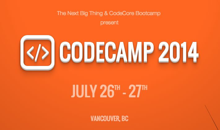 "CodeCamp 2014 is coming up at the end of this month in Vancouver, and it promises kids and teens up to grade 12 the chance to get an introduction into the world of programming and even win some nice prizes.  The free event is being put on by CodeCore Bootcamp, which calls itself Vancouver's leading coding school, and The Next Big Thing, a startup creating a ""powerful network of entrepreneurs helping entrepreneurs."""