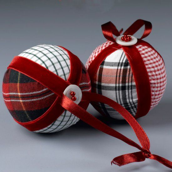Upcycle old shirts to make these classic, no-sew Christmas ornaments. Then, add ribbons, buttons and other trims.