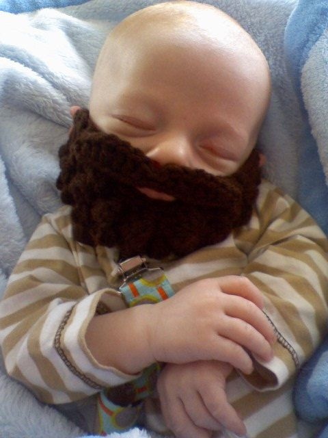 Burly Beard and Mustache - Pair with Any Hat You Own or Wear Alone - via Etsy.