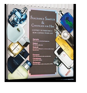 345erterter5345ertertertert345345Fragrance Sampler & Certificate for Him - With the His & Hers fragrance sampler you can:                                                      Sample 10 fabulous fragrances.    Select the scent you like best                                      Submit your scent certificate for a full-size bottle of your favourite one